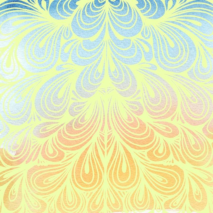 Wallpapers Hd Para Facebook Free Illustration Wallpaper Scrapbook Paisley Blue