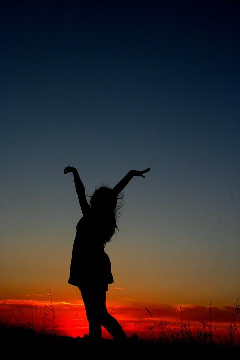 Single Rose Wallpaper Hd Free Photo Sunset Girl Dance Shadow Free Image On