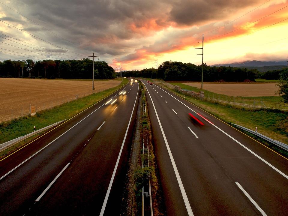 Black Car Lights Wallpaper Free Photo Road Motorway Freedom Evening Free Image
