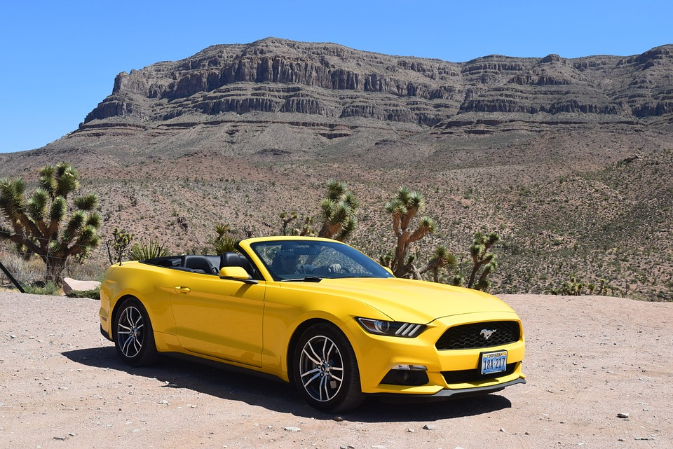 Classic Muscle Car Mobile Wallpaper Free Photo Yellow Car Car Mustang Desert Free Image