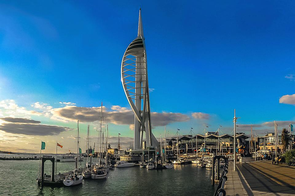 3d Moon Night Wallpaper Portsmouth Spinakker Tower 183 Free Photo On Pixabay