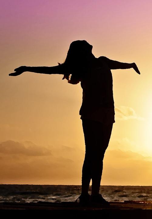 Sad Boy And Girl Full Hd Wallpaper Free Illustration Silhouette Woman Beach Sundown