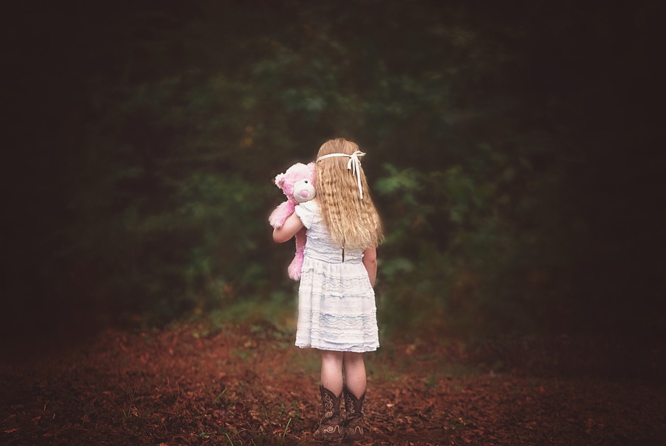 Lonely Cute Girl Wallpaper Free Photo Girl Woods Backside Looking Away Free