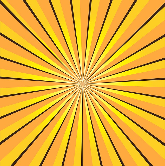 Free 3d Flower Wallpaper Free Illustration Sunburst Yellow Rays Sun Free