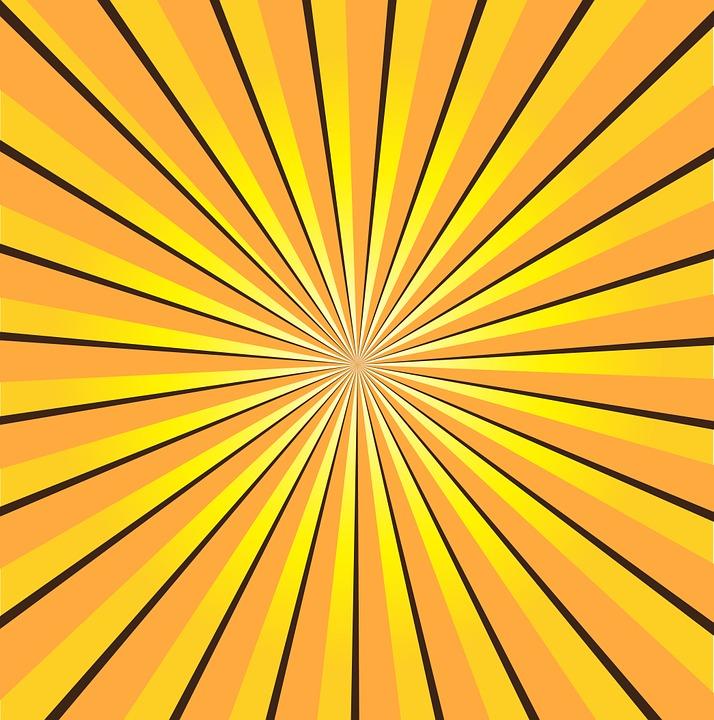 Animated Sky Wallpaper Free Illustration Sunburst Yellow Rays Sun Free
