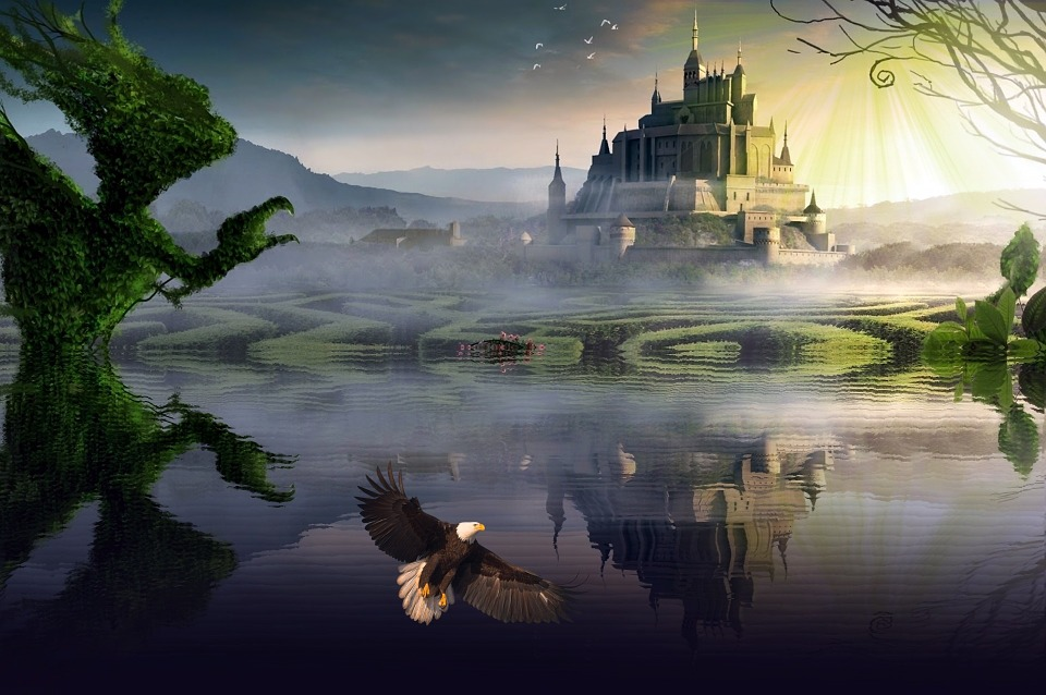 Beauty Girl In The World Wallpaper Fantasy Castle Reflection 183 Free Image On Pixabay