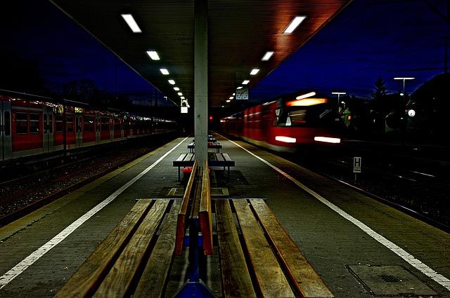 Black And White Rose Wallpaper Free Photo Railway Station Night Train Free Image On