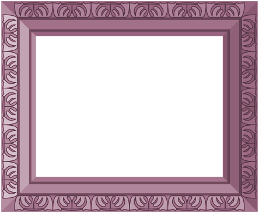 Baby Girl Wallpaper Borders Pink And Purple Free Illustration Purple Frame Ornate Antique Free