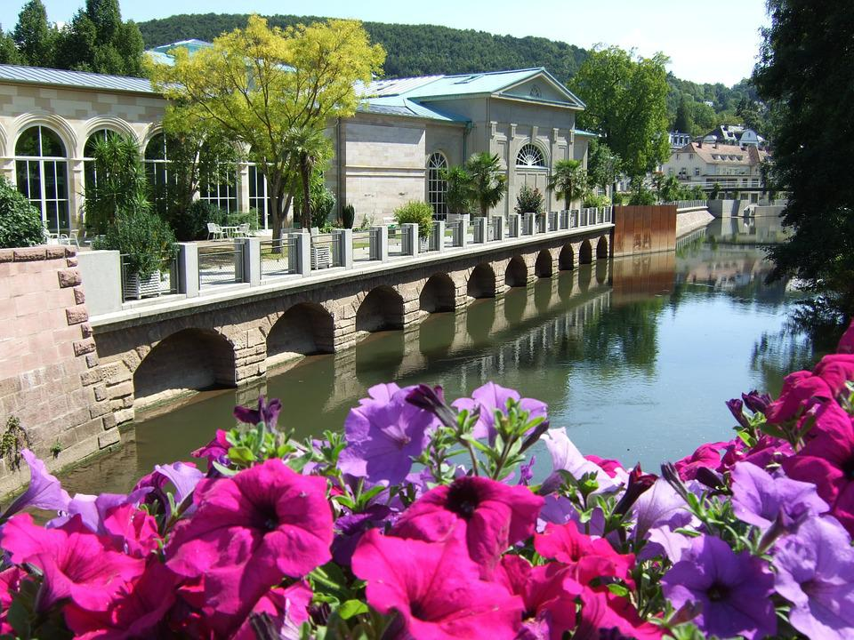 Foto gratis Bad Kissingen, Água, Pontes, Flores - Imagem gratis - bad kissingen