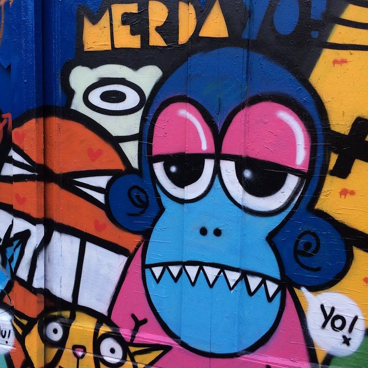 Iphone 5 Wallpaper Apple Kostenloses Foto Affe Grafik Graffiti Hintergrund