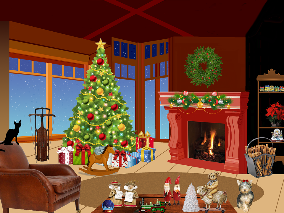 Animated Fireplace Wallpaper Christmas Tree Fir 183 Free Image On Pixabay