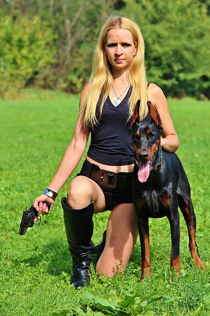 Ar 15 Girl Wallpaper Free Photo Weapon Doberman Dog Woman Free Image On