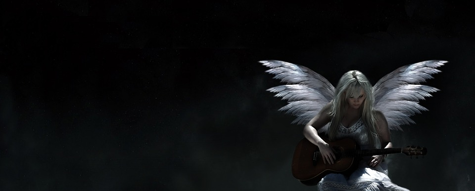 3d Angel Wallpapers Free Free Illustration Angel Guitar Music Dark White