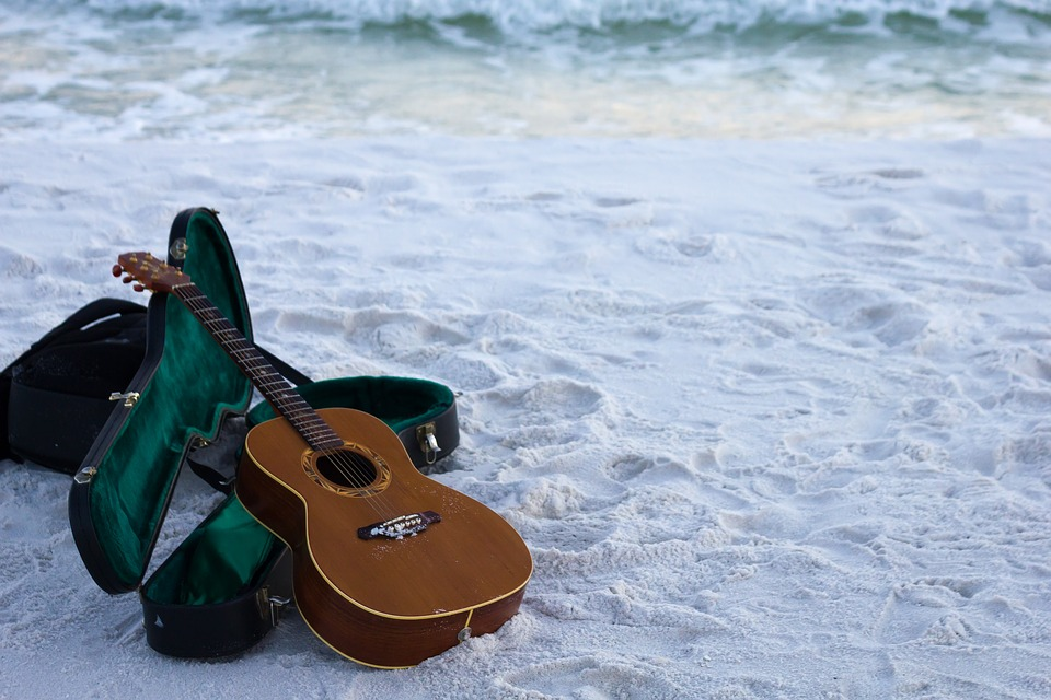 Beach Girl Wallpaper Guitar Sand Instrument 183 Free Photo On Pixabay