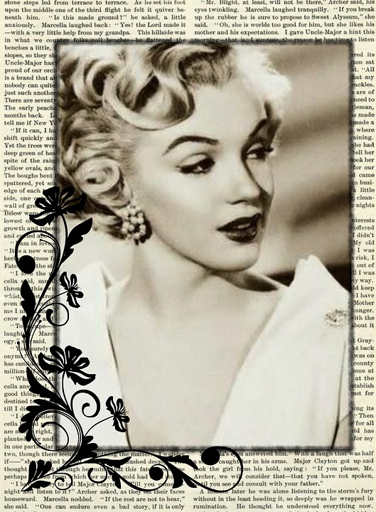 Pin Up Girl Art Vintage Wallpaper Free Illustration Vintage Actress Collage Marilyn