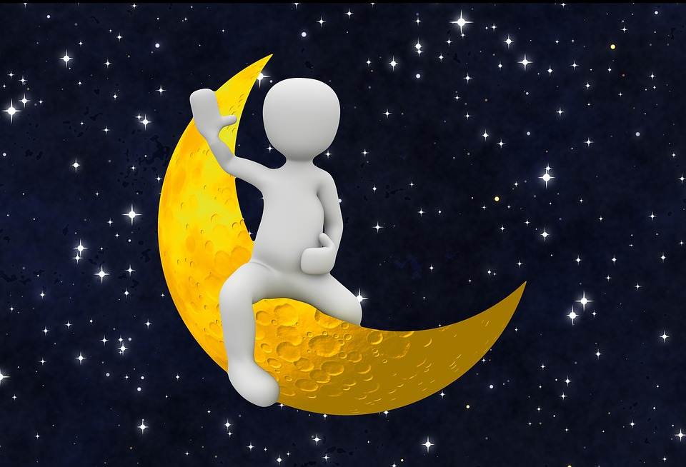 Portrait 4k Wallpaper Girl Moon Crescent Person 183 Free Image On Pixabay