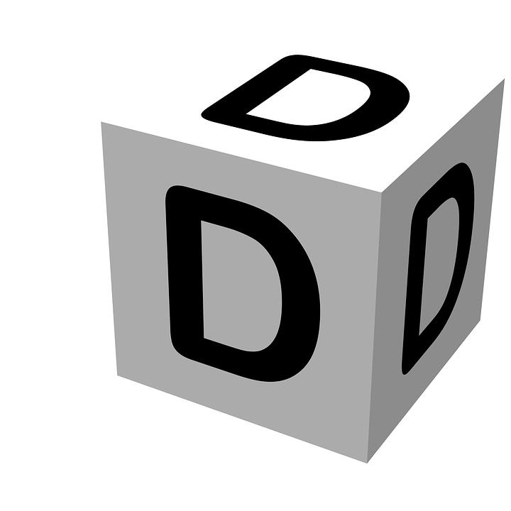 3d White Brick Wallpaper Free Illustration Letter Block D Wooden Alphabet