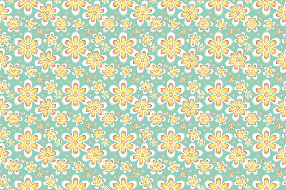 Background Cute Wallpaper Free Illustration Seamless Pattern Floral Pastels