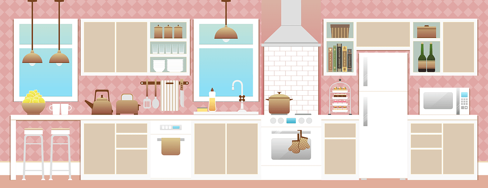 Background Dapur Free Illustration: Kitchen, Room, Kitchen Interior - Free