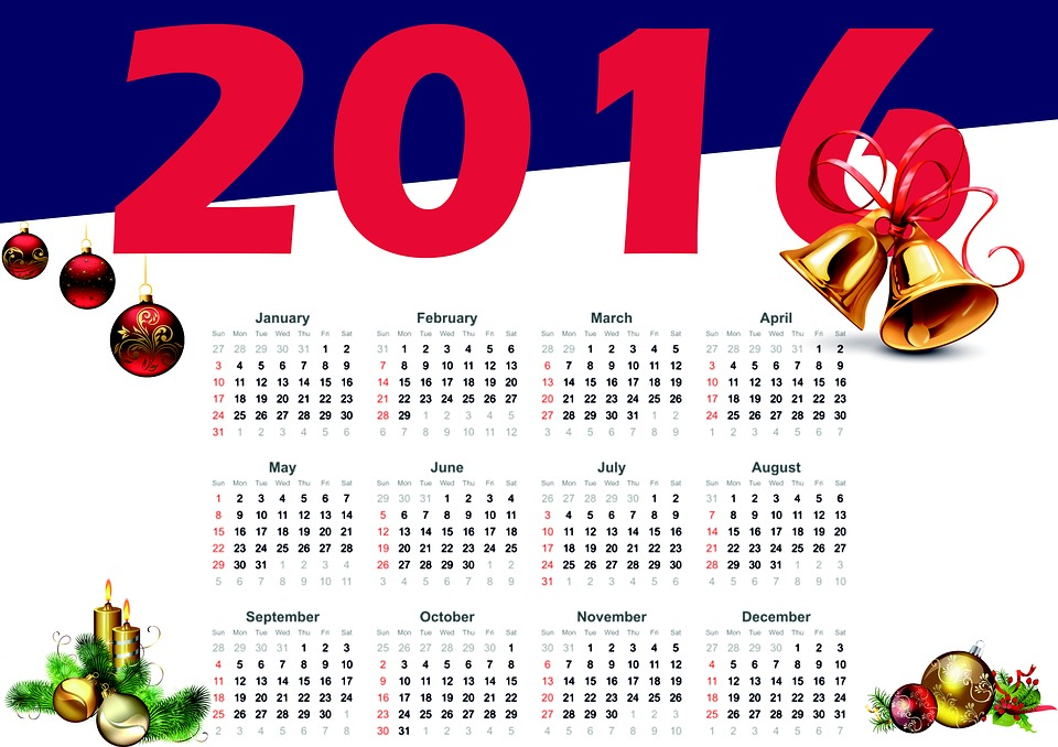 New Year Calendar Numbers - Free image on Pixabay