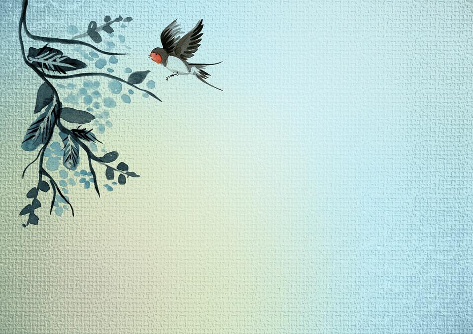 Xmas Cute Wallpaper Free Illustration Background Blue Watercolor Plant