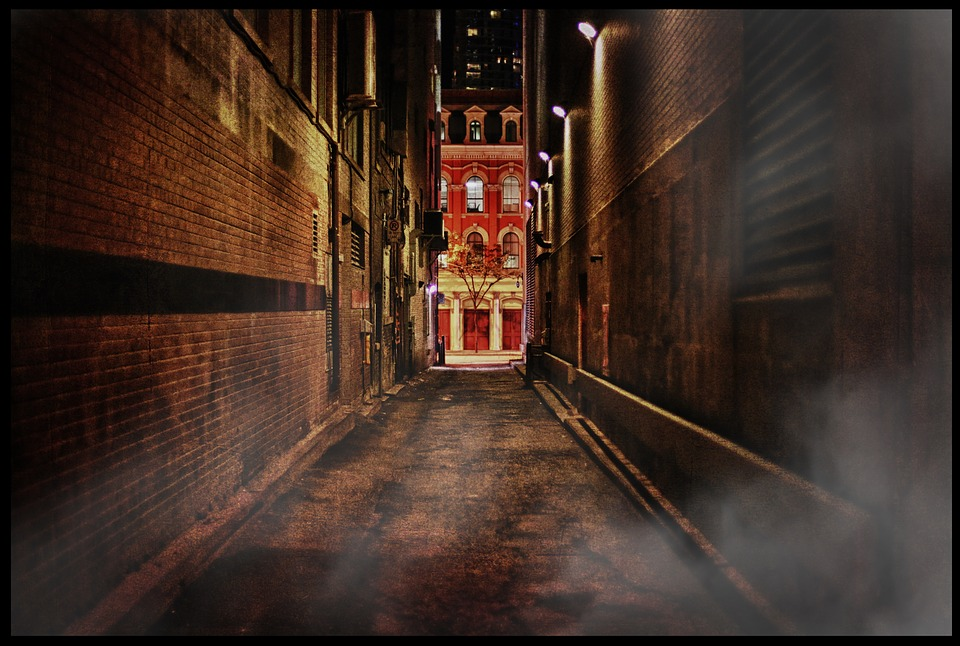 Car Lights Night Wallpaper Free Photo Toronto Alley Dark City Free Image On