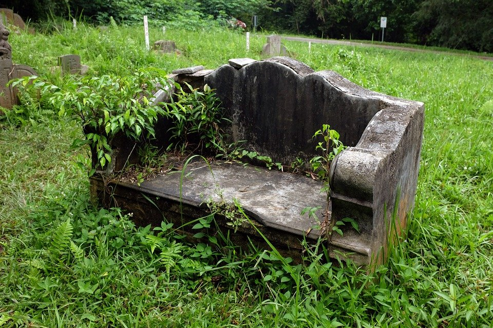 Fall Graveyard Cemetery Wallpaper Old Stone Bench Abandoned Cemetery 183 Free Photo On Pixabay