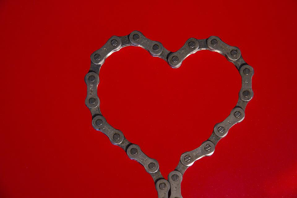 Black And White And Red Wallpaper Free Photo Heart Valentine S Day Bike Chain Free