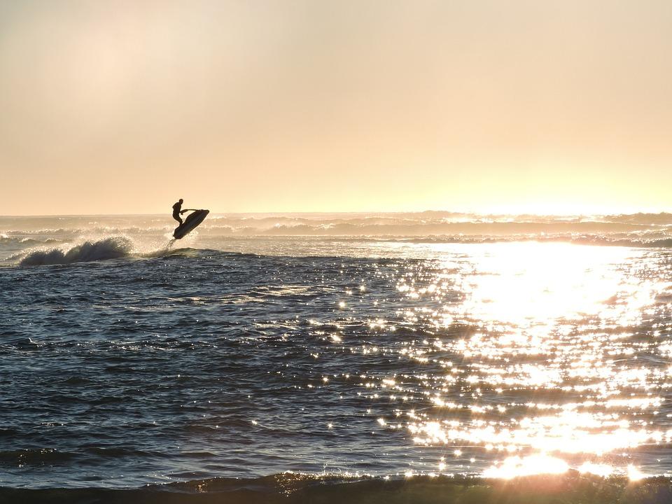 Hd Wallpaper Sea Beach Free Photo Jet Ski Jumping Ocean Water Jet Free