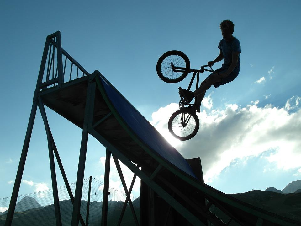 Cool Girl Wallpaper Free Photo Bmx Shadow Bicycle Jump Free Image On
