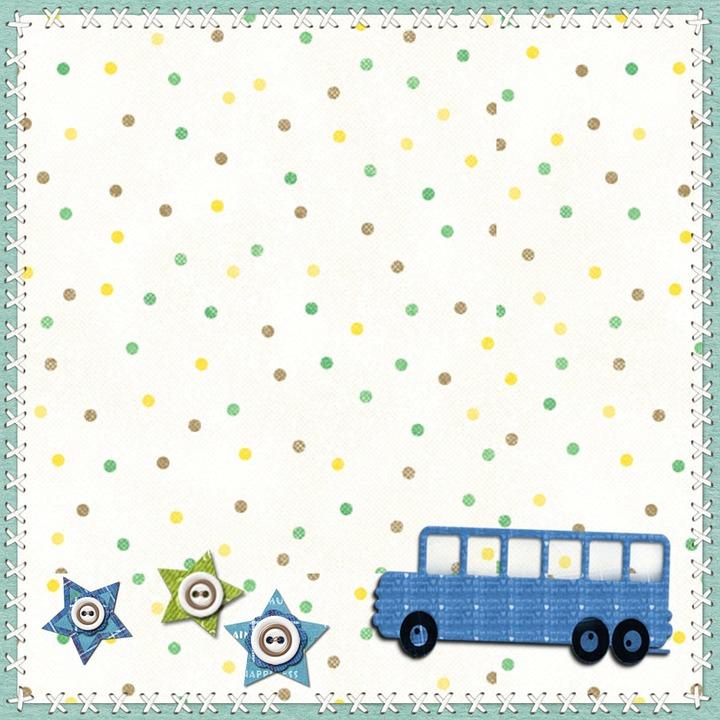 Cute Elephant Design Wallpaper Free Illustration Background Scrapbook Square Boy