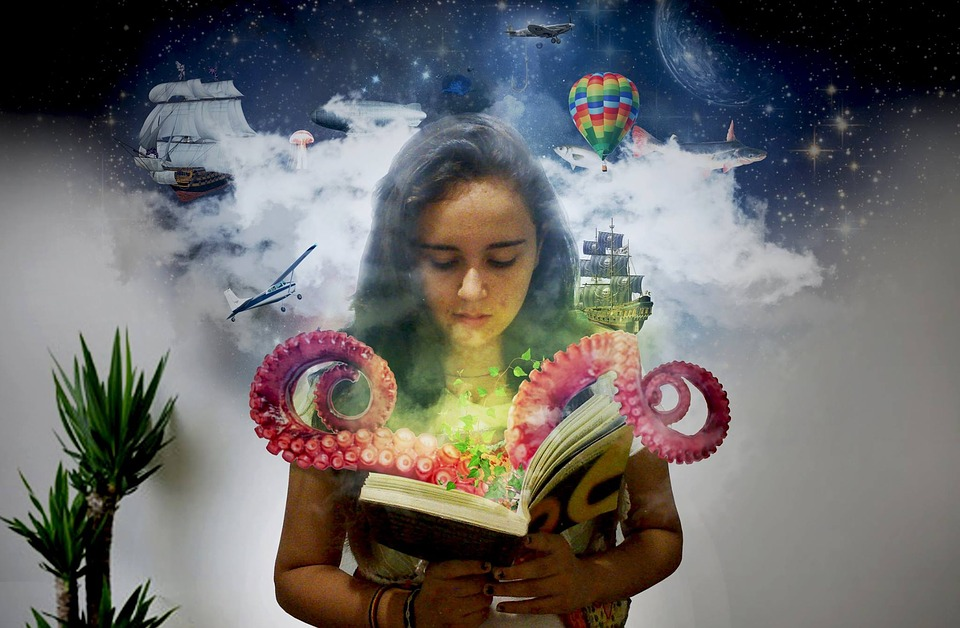 Girl In A Tree Reading A Book Wallpaper Octopus Book Reading 183 Free Photo On Pixabay