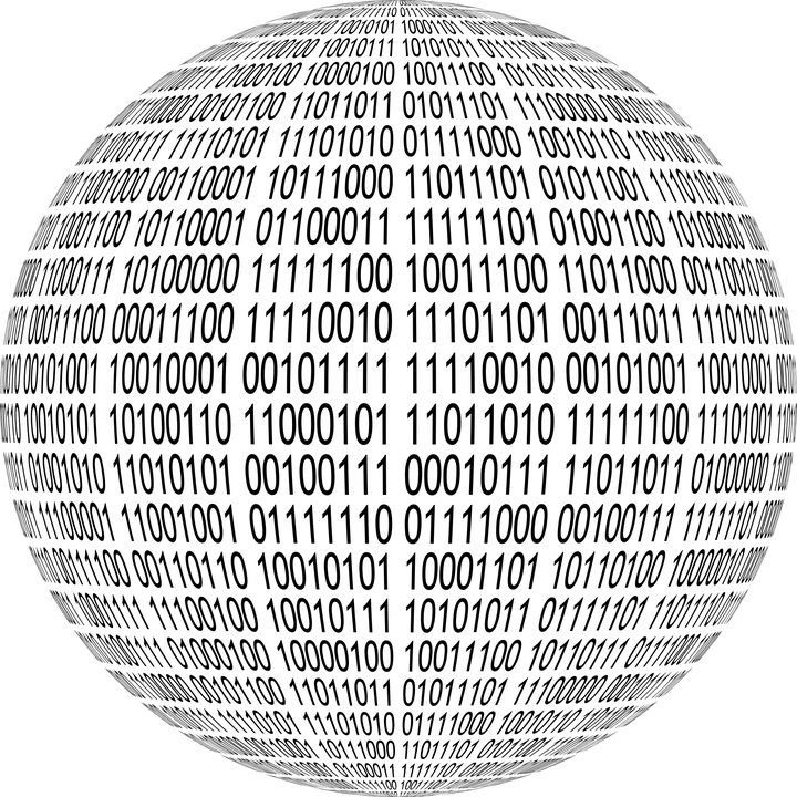 3d Digital Clock Wallpaper Free Vector Graphic Binary Sphere 3d Round Orb Free