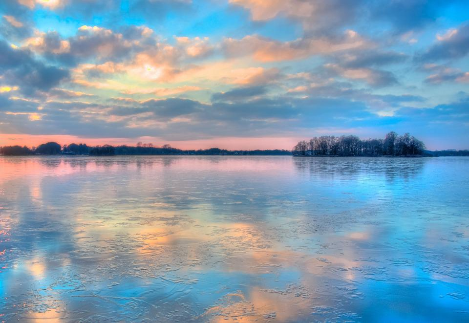 Colorful Iphone Wallpaper Frozen Lake Sunset 183 Free Photo On Pixabay