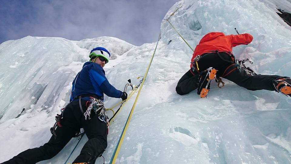 Ice Fall Wallpaper Ice Climbers Climb 183 Free Photo On Pixabay