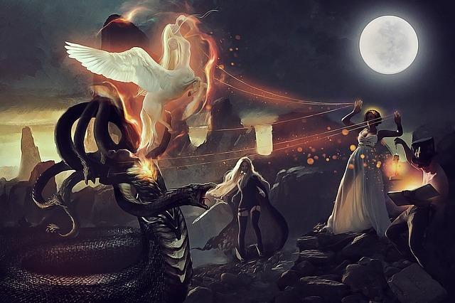 3d Moon Night Wallpaper Medusa Pegasus Athena 183 Free Image On Pixabay