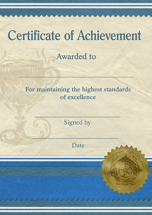 Certificate Achievement Template - Free image on Pixabay