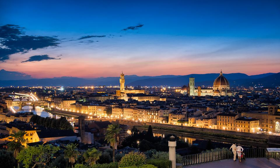 Girl Night Wallpaper Florence Skyline Sunset 183 Free Photo On Pixabay