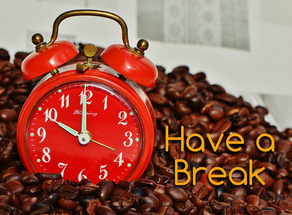 Black And Blue Wallpaper Free Illustration Coffee Break Break Alarm Clock Free
