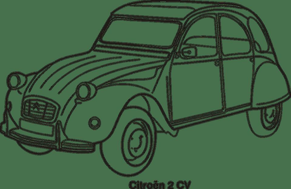 vintage road racing car del Schaltplan