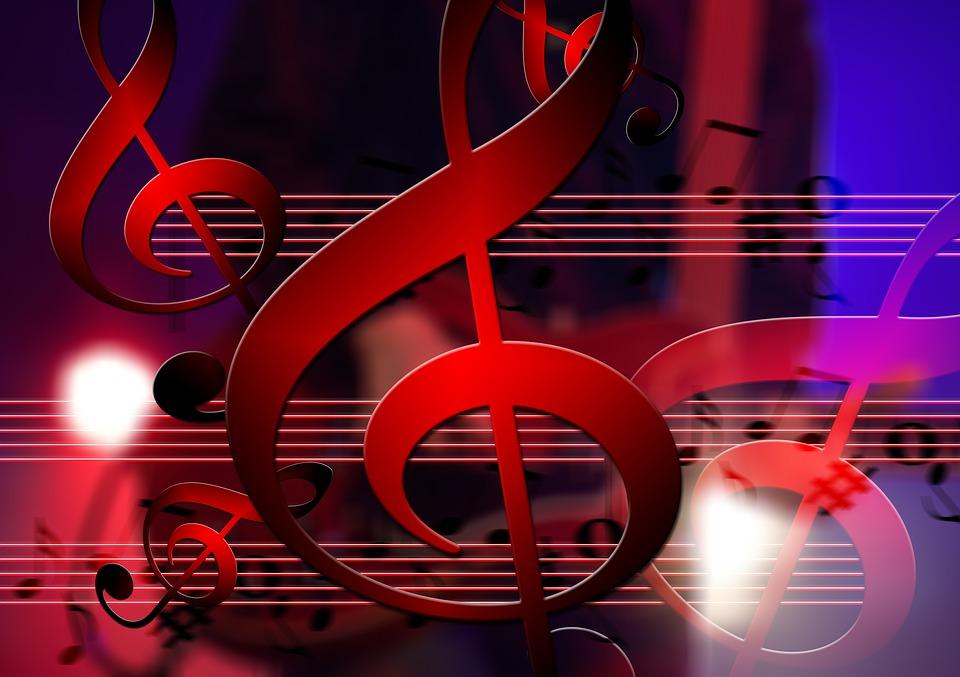 Om 3d Wallpaper Download Gratis Illustratie Sleutel Muziek Gitaar Lijnen