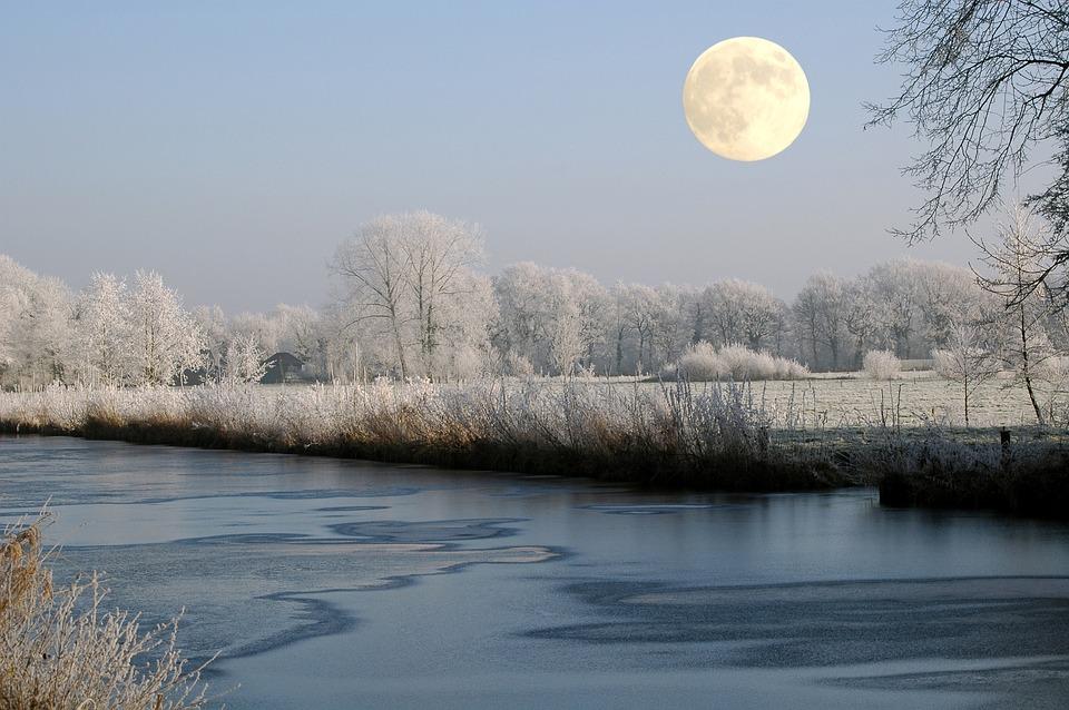 Sky Hd Wallpaper Free Photo Full Moon Moon Winter Channel Free Image