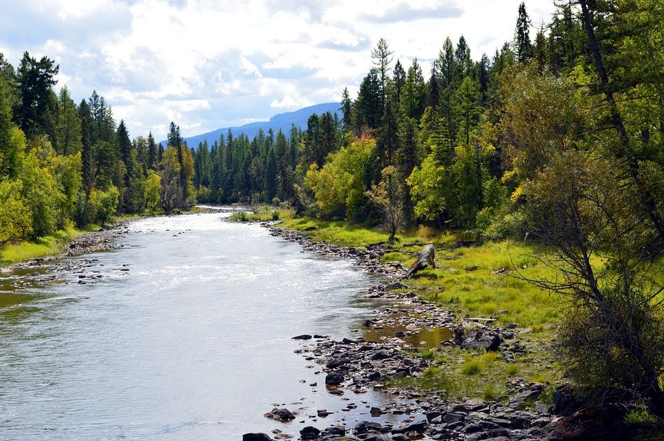 Water Fall Hd Wallpaper 4k Free Photo Montana River Landscape Mountain Free