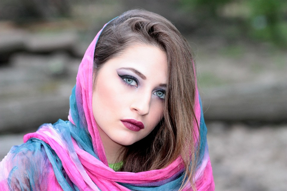 Muslim Girl Wallpaper Free Free Photo Girl Scarf Covered Oriental Free Image On