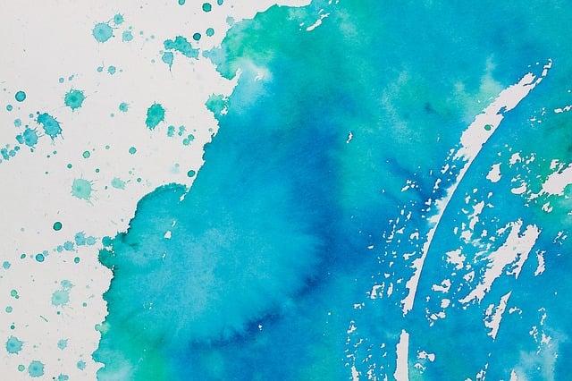 Cute Aqua Green Wallpaper Free Illustration Watercolour Embroidery Spray Free