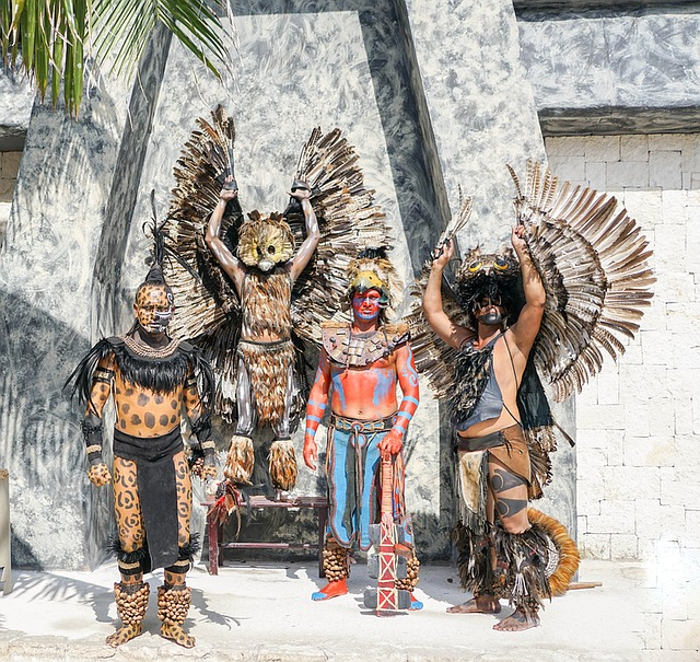 Black And Blue Wallpaper Free Photo Mexico Warriors Posing Costumes Free
