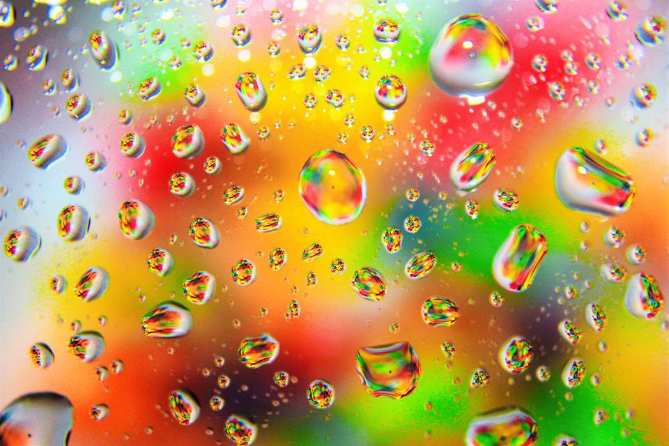 Raindrops 3d Live Wallpaper Free Photo Color Colorful Raindrops Rainbow Free