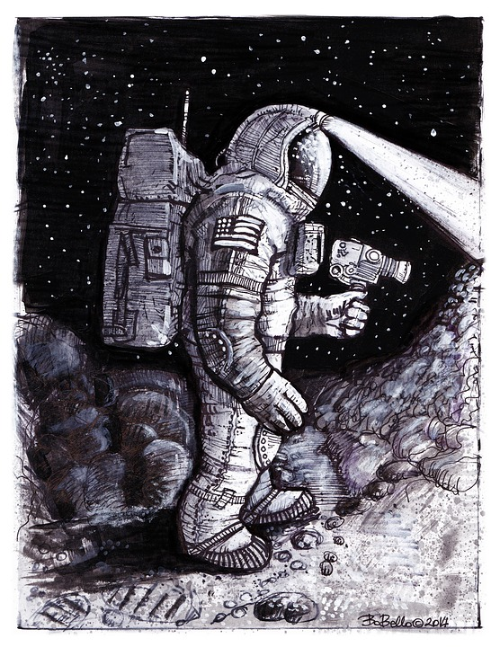 Sad Animation Wallpaper Illustration Gratuite Astronaute Cosmonaute Image