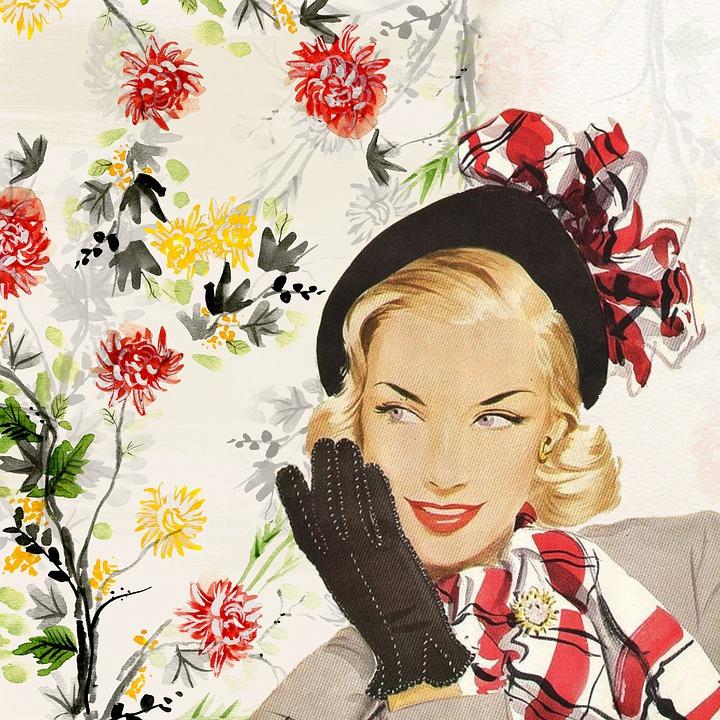 4k Hd Girl Wallpaper Free Illustration Vintage Lady Girl Woman Fifties