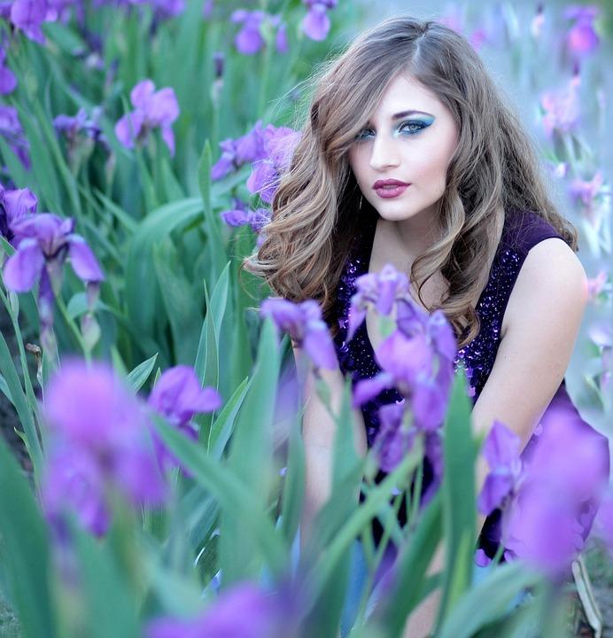 4k Girl Wallpaper Free Photo Girl Mov Flowers Iris Blonde Free Image